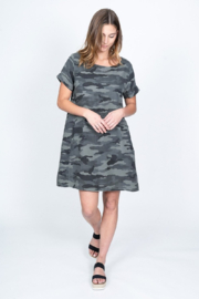 Dylan by True Grit Camo Shirt Dress - Product Mini Image
