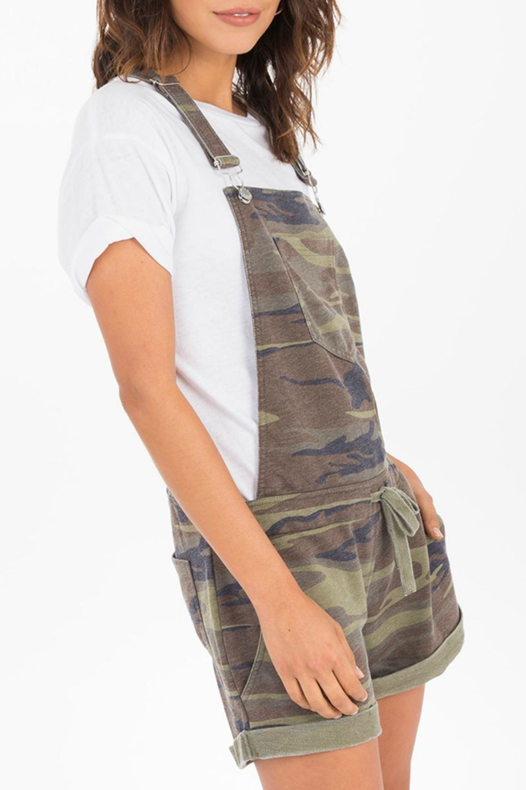 z supply Camo Short Overalls - Front Full Image