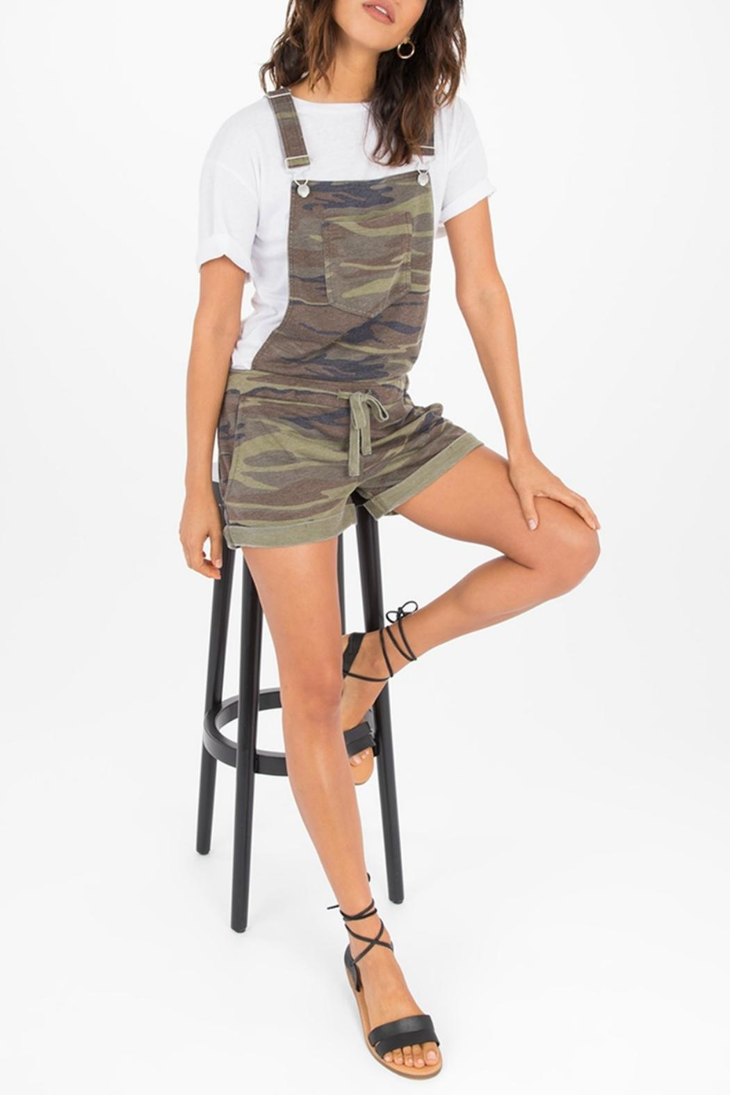z supply Camo Short Overalls - Front Cropped Image
