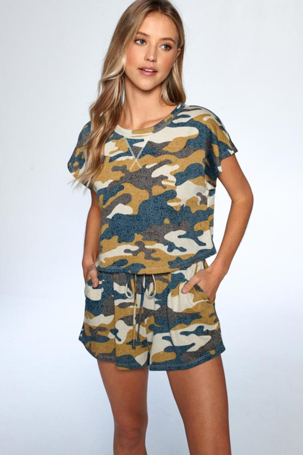 ee:some Camo Short Set - Front Full Image