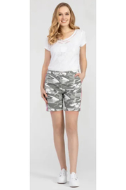 Tribal  Camo Shorts with Contrast Side - Product Mini Image