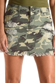 Tractr Blu Camo Skirt - Front cropped