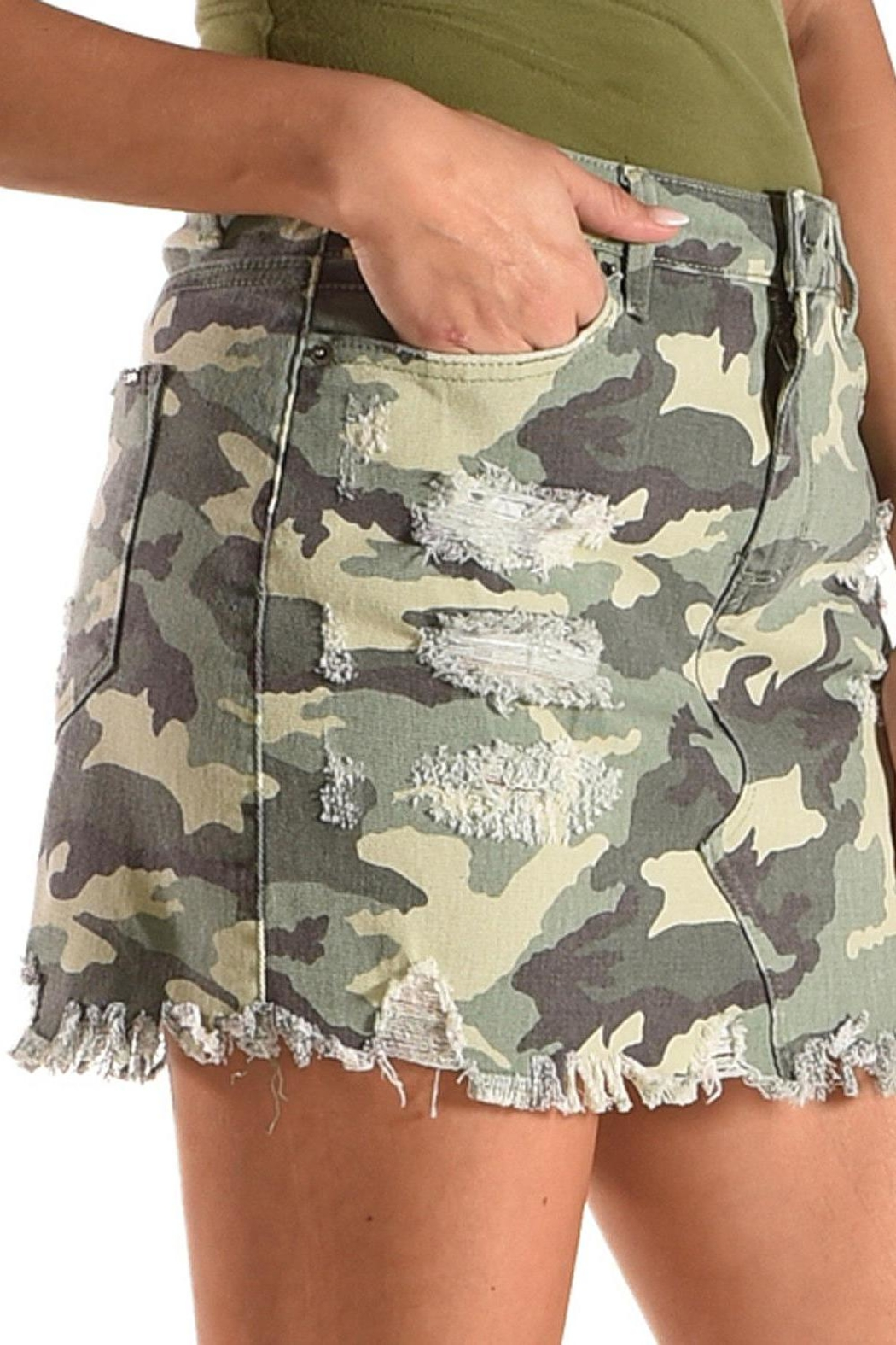 Tractr Blu Camo Skirt - Front Full Image