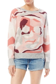 Skull Cashmere Camo Skull Crew - Front cropped