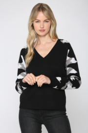Fate Camo Sleeve Sweater - Front cropped