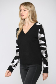 Fate Camo Sleeve Sweater - Front full body