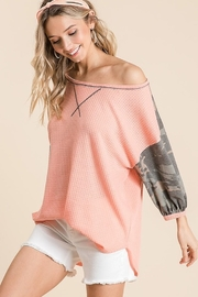 Bibi Camo Sleeve Thermal Top - Side cropped