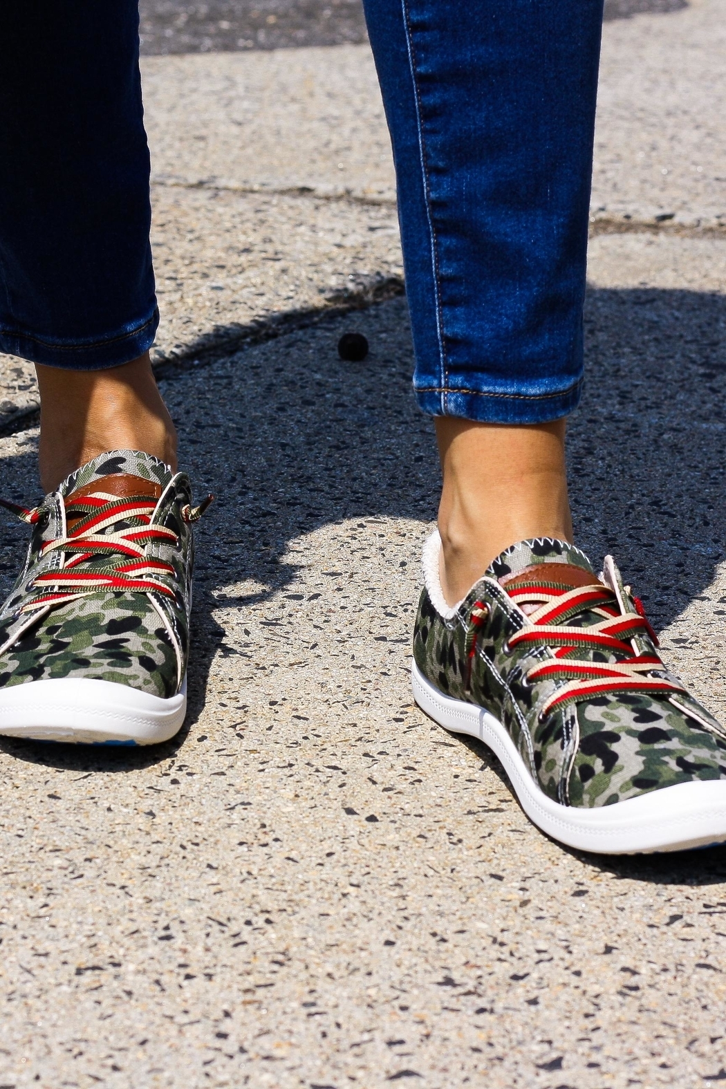 Vintage Havana Camo Slip-On Sneakers - Front Cropped Image
