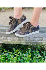Pedro Garcia Camo Sneakers - Front cropped