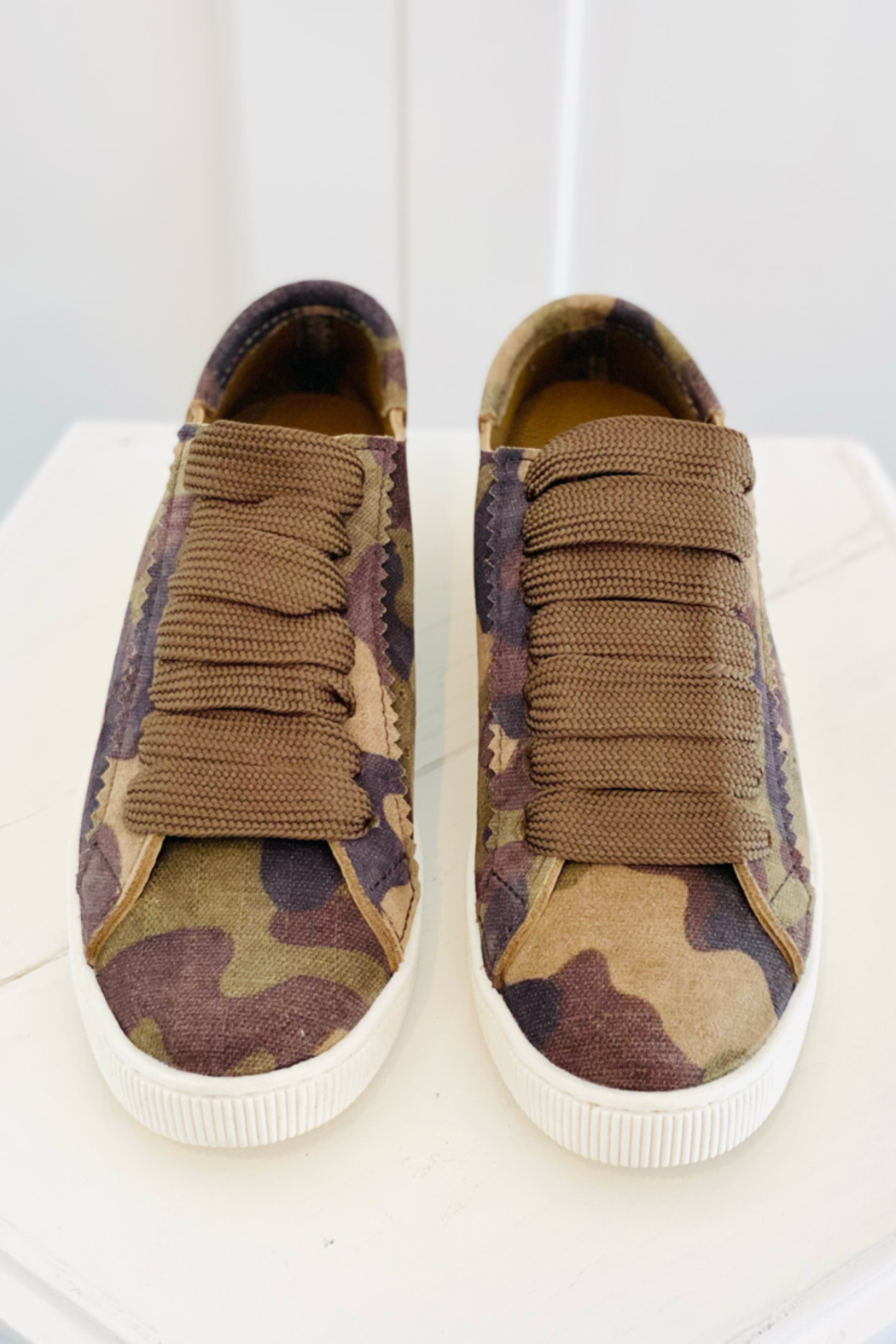 Pedro Garcia Camo Sneakers - Side Cropped Image