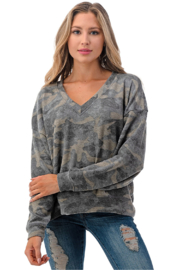 Ariella USA Camo Soft Knit Pullover - Product Mini Image