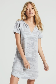 z supply Camo Split Neck Dress - Product List Image