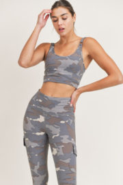 Mono B Camo Sports Bra - Product Mini Image