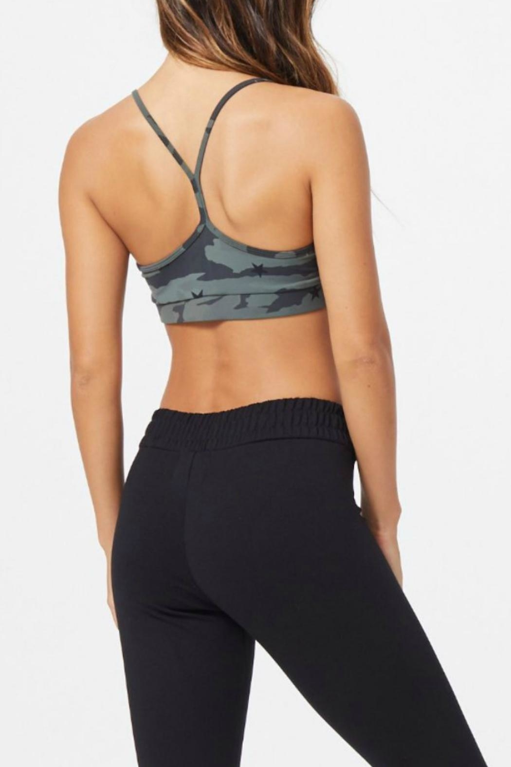 Monrow Camo Sports Bra - Side Cropped Image