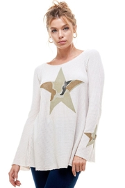 T Party Camo Star Long Sleeve Hoodie - Product Mini Image