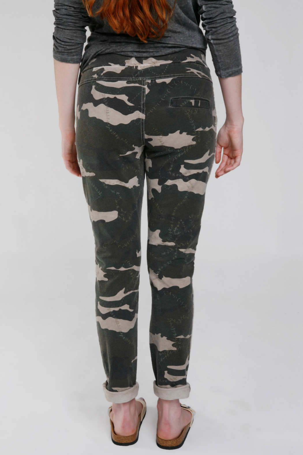 Baci Camo Stitch Reflector Trackpant - Front Full Image