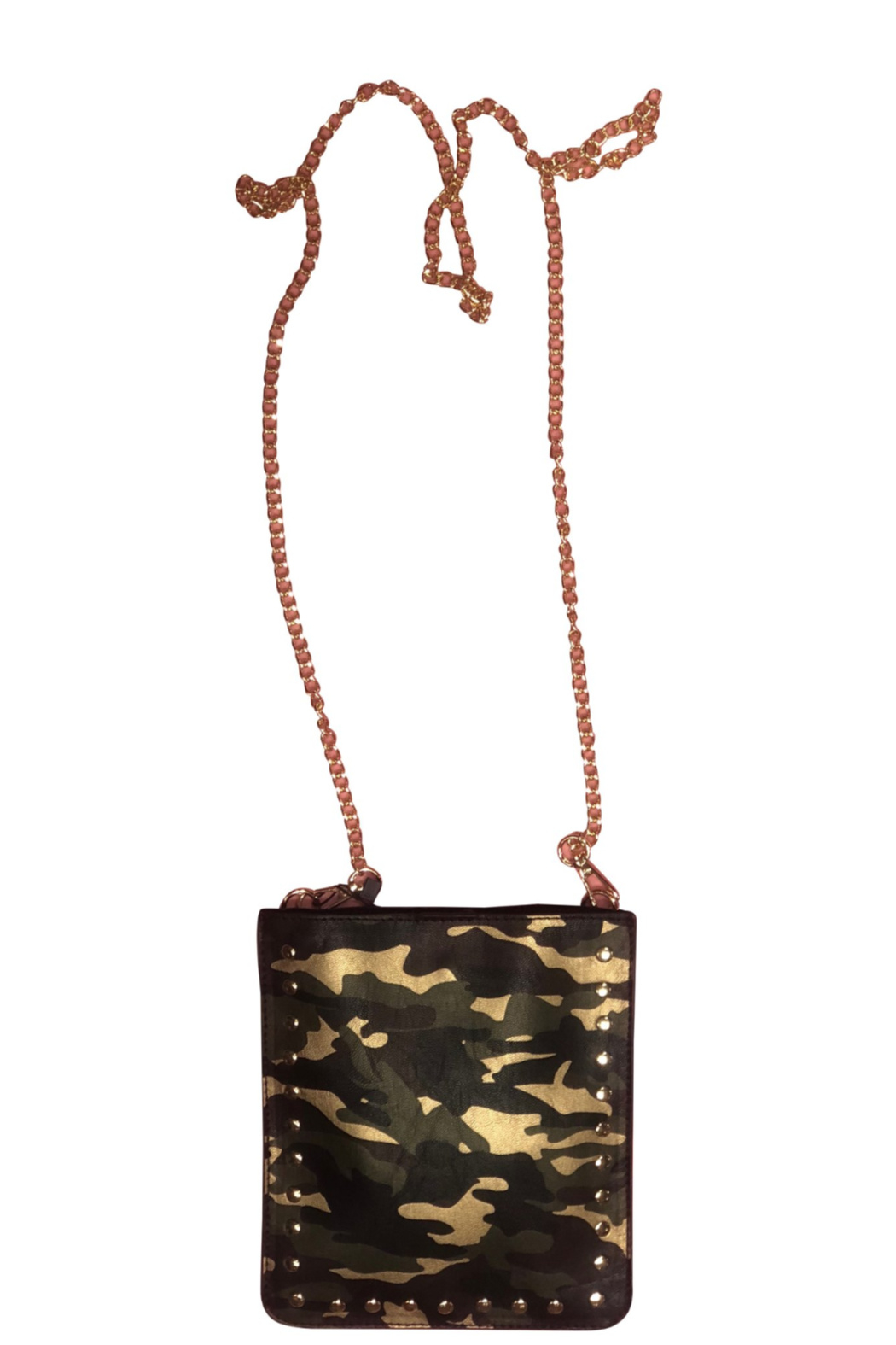 Ah!dorned Camo Studded Crossbody - Front Cropped Image
