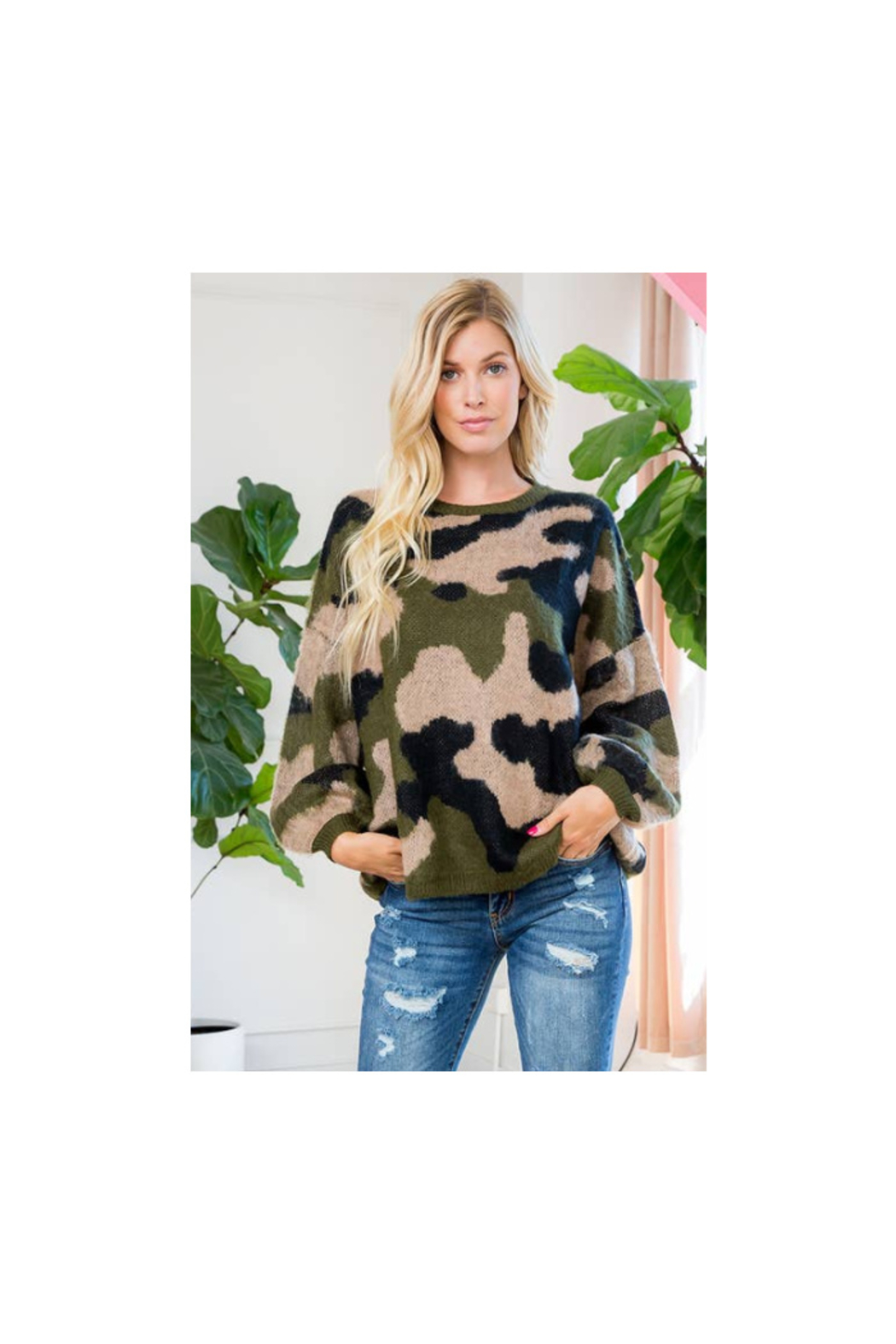 The Birds Nest CAMO SWEATER - Main Image