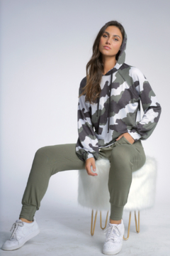 Shoptiques Product: Camo Sweater Hoodie