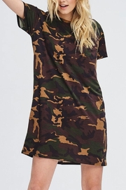 Cherish Camo T-Shirt Dress - Product Mini Image