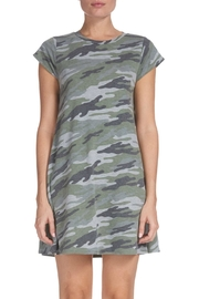 Elan Camo T-Shirt Dress - Front cropped