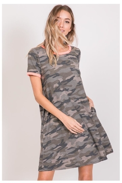 7th Ray Camo T-Shirt Dress - Product List Image