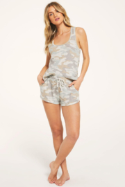 Z Supply  Camo Tank, Shorts & Scrunchies Set - Product Mini Image