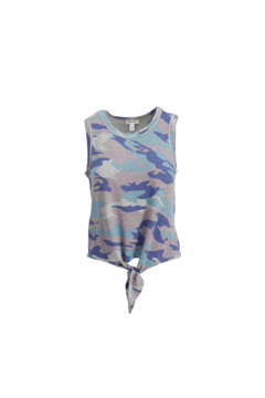 Tribal Jeans Camo Tank With Tie - Product List Image