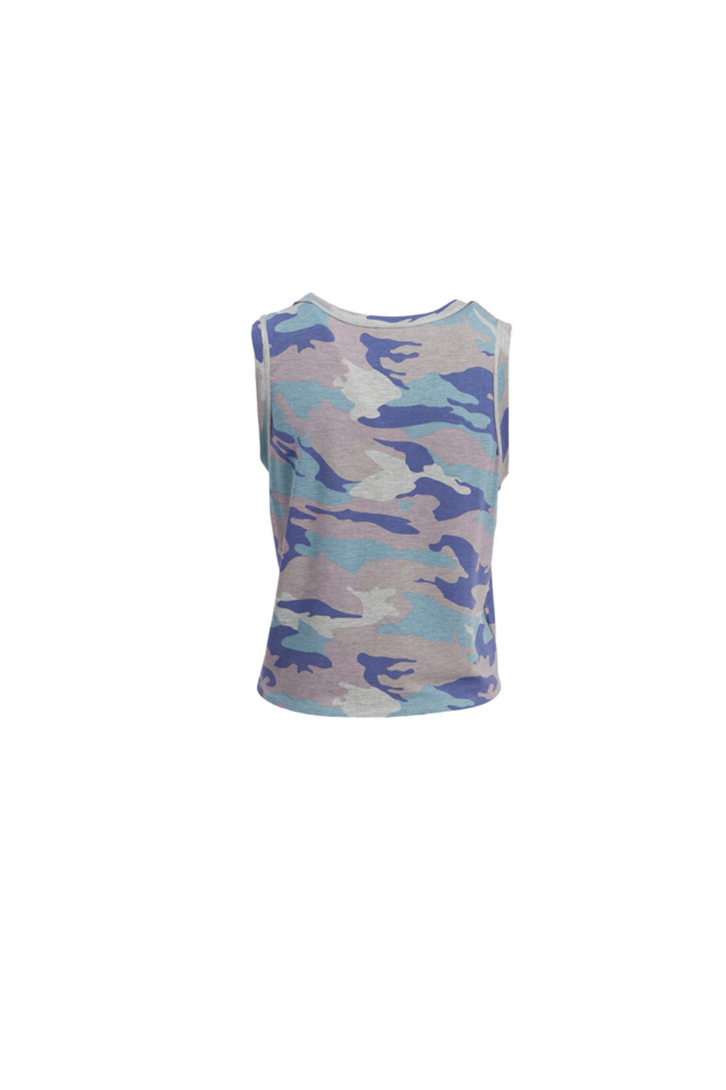 Tribal Jeans Camo Tank With Tie - Front Full Image