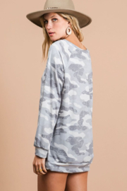 Bibi Camo Terry Pull Over - Side cropped