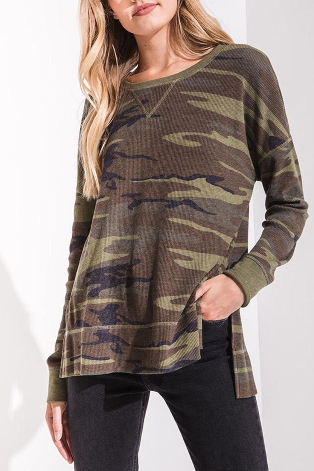 z supply Camo Thermal Top - Main Image