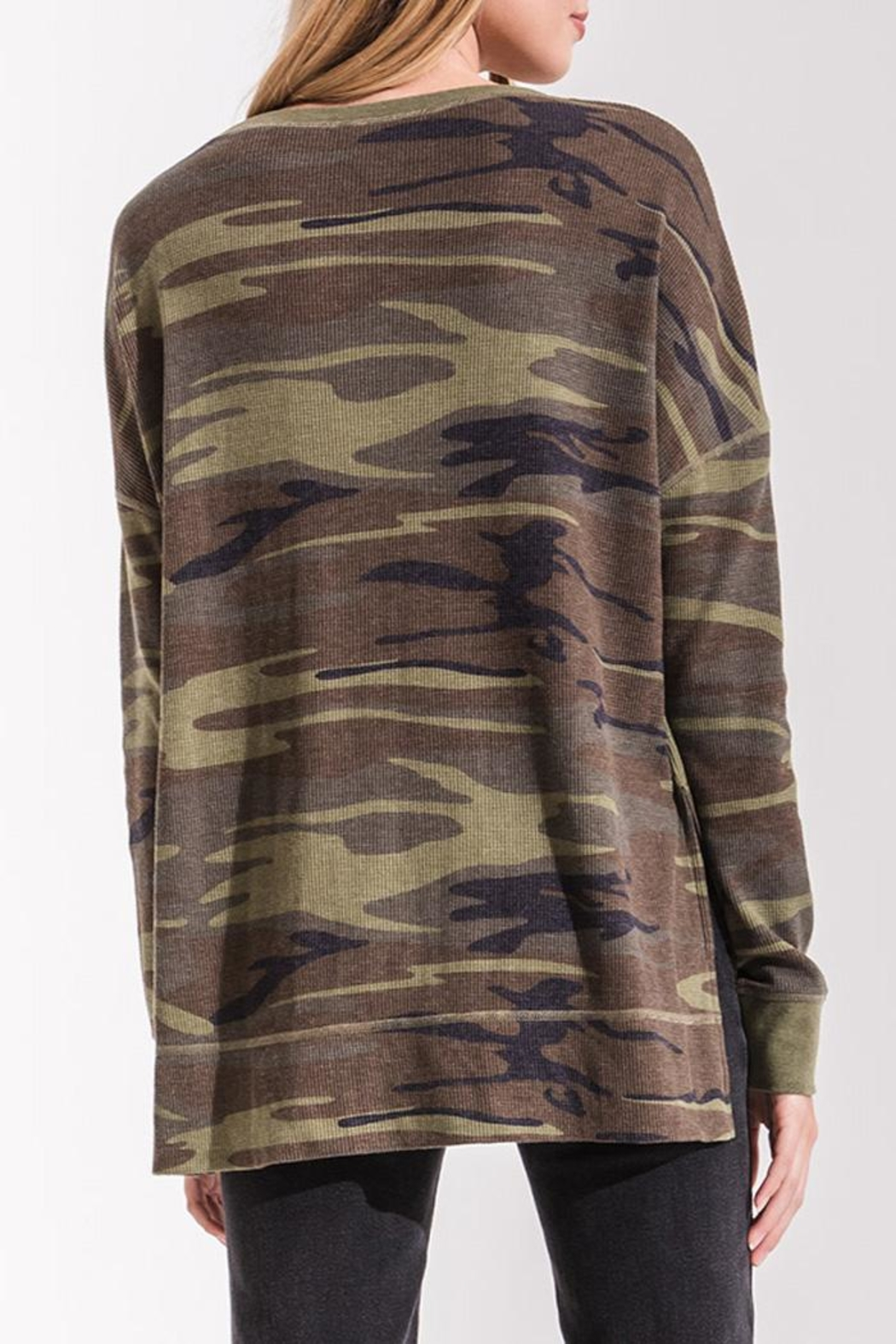 z supply Camo Thermal Top - Back Cropped Image