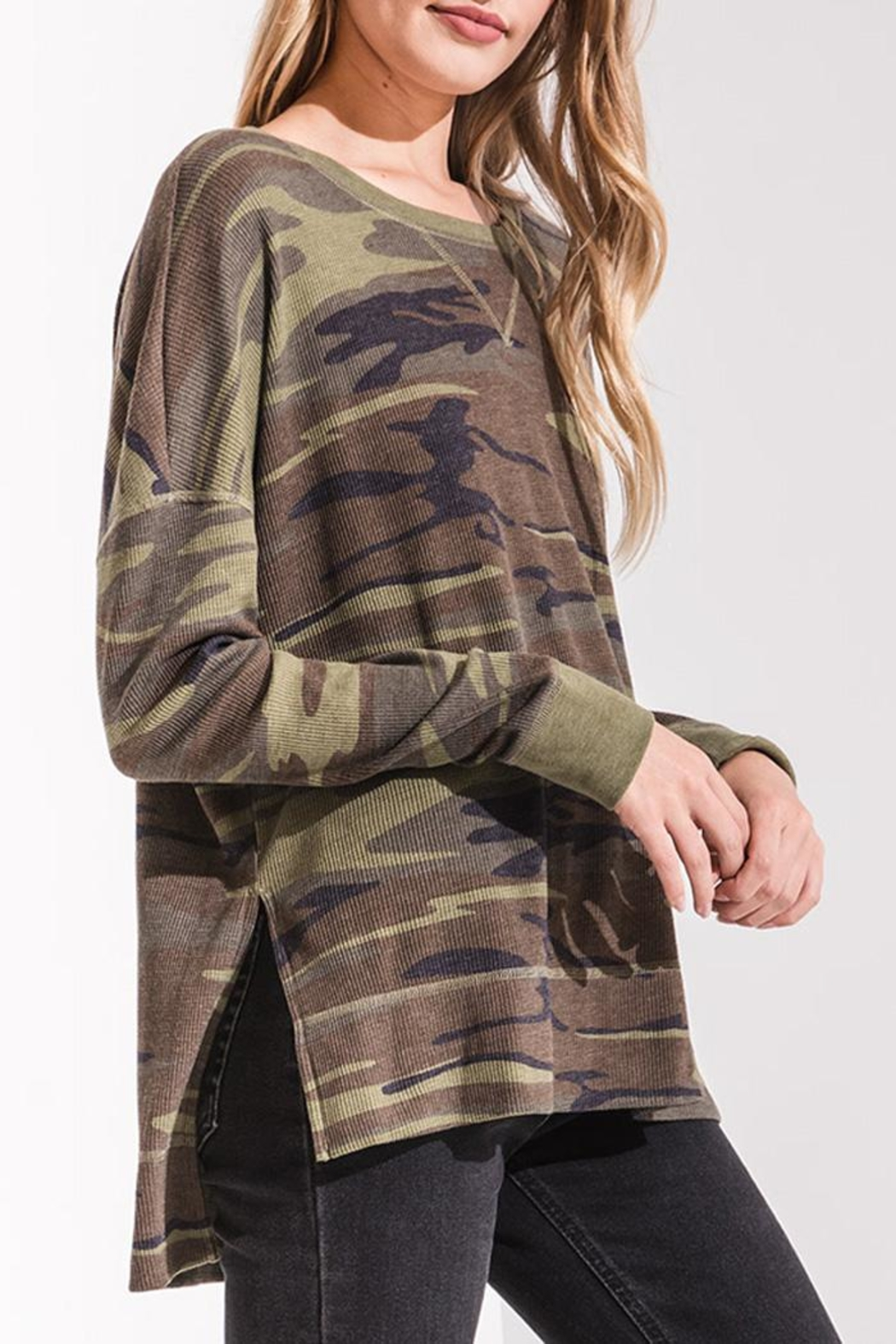 z supply Camo Thermal Top - Front Full Image