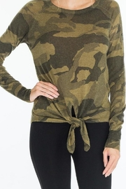 Olivaceous Camo Tie Sweater - Product Mini Image