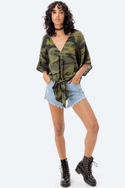 Lovestitch Camo Tie Top - Front cropped