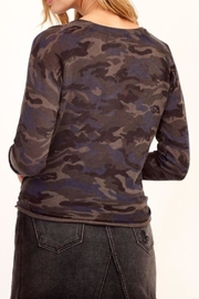 Olivaceous Camo Tie Top - Front full body