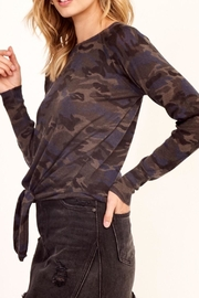 Olivaceous Camo Tie Top - Side cropped