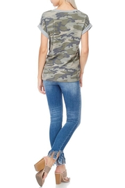 7th Ray Camo Tie Top - Front full body