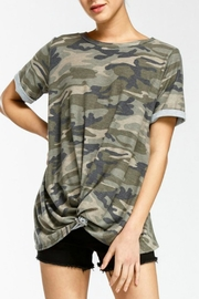 Cherish Camo Top - Front cropped