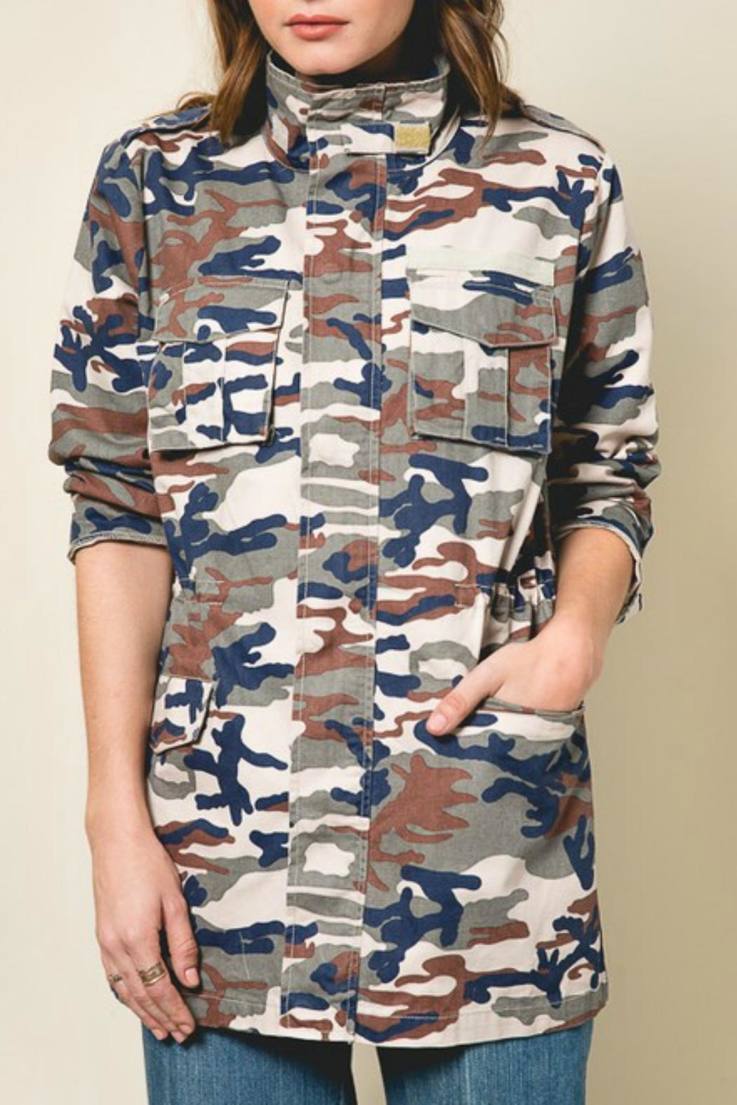 Pretty Little Things Camo Utility Jacket - Main Image