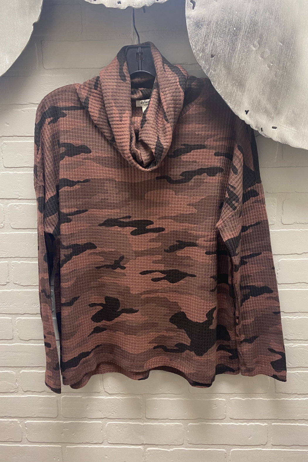 Dylan by True Grit Camo Waffle Cowl Neck - Main Image
