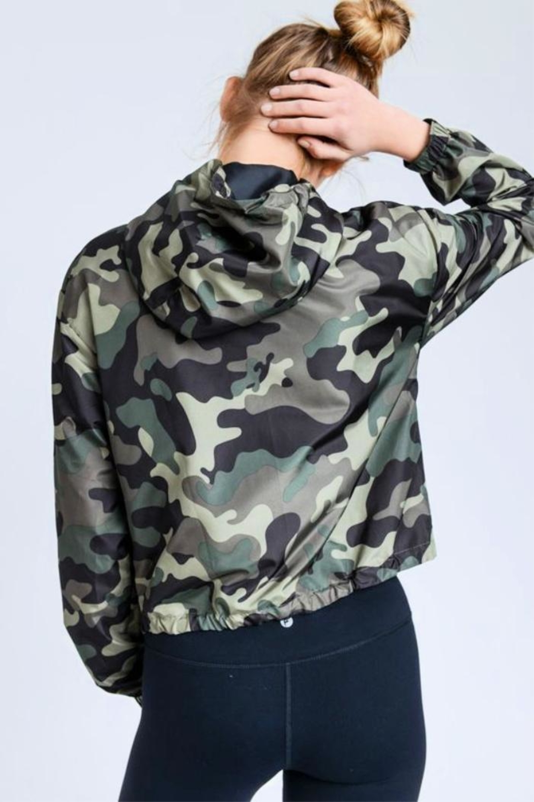 Love Tree Camo Windbreaker Jacket - Front Full Image