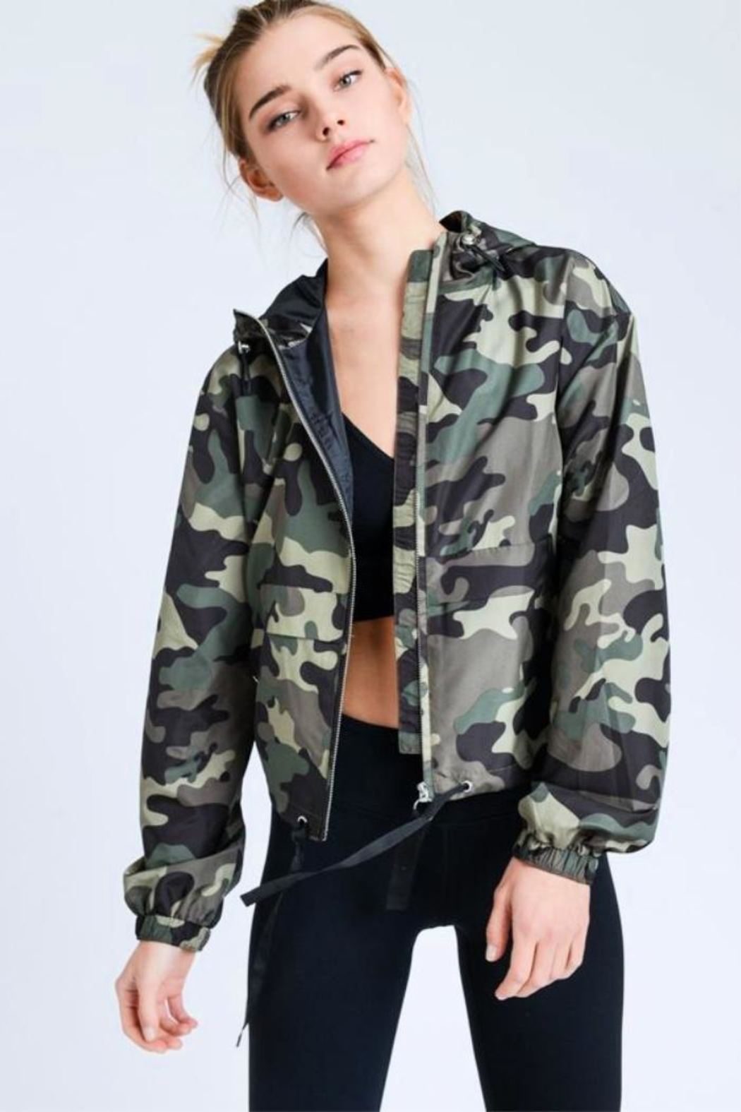 Love Tree Camo Windbreaker Jacket - Main Image