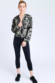Love Tree Camo Windbreaker Jacket - Side cropped