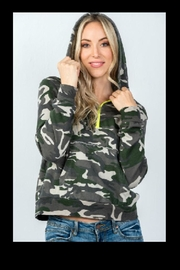Honey Punch Camo Zip Up - Product Mini Image