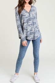 Miss Darlin Camo Zipfront Top - Product Mini Image