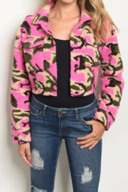 Starlette Apparel Camoflage Fleece Jacket - Product Mini Image