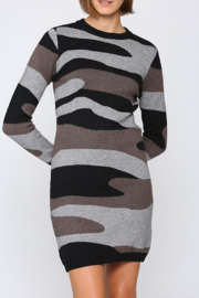 Fate Camoflage knitted sweater dress - Product Mini Image