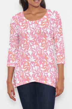 Whimsy Rose Camoflauge Dots Pink - Katherine Hi-Lo Top - Product List Image
