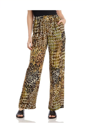 Karen Kane Camouflage Animal Print Wide-Leg Pants - Product Mini Image
